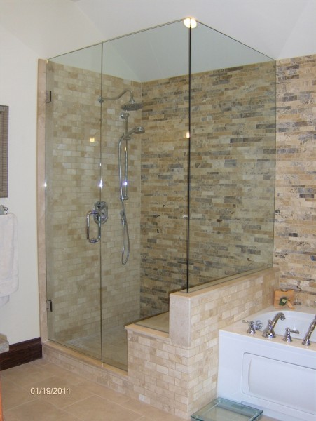 Glass showers, frameless shower doors, glass repair and service ...